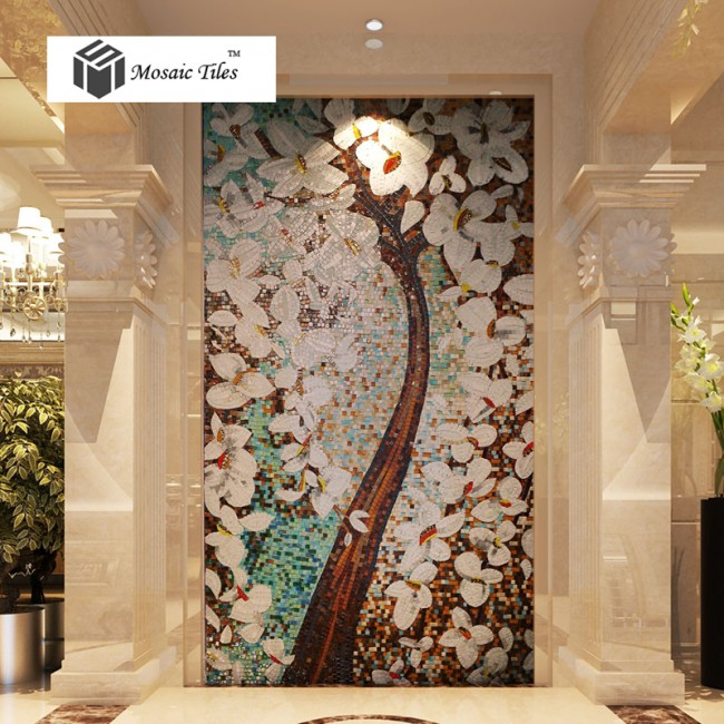 TST Mosaic Murals Fortune Lucky Tree Colorful Wall Deco Art Design TSTBSM016