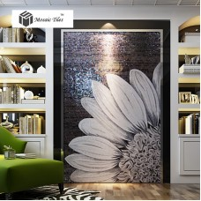 TST Mosaic Mural Black & White Sunflower Modern Unique Design Wall