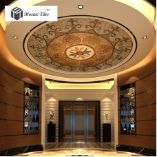 TST Mosaic Mural Golden Hall Ceiling Floor Sequence Pattern Round Art Deco Mosaic