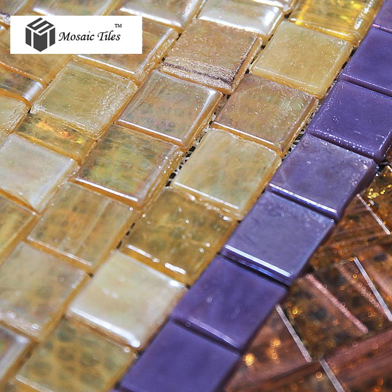 TST Mosaic Mural Golden Hall Ceiling Floor Sequence Pattern Round - Art deco mosaic tile patterns