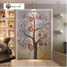 TST Mosaic Mural Candy Color Red Happiness Love Tree Lollipop Bedroom Study Deco