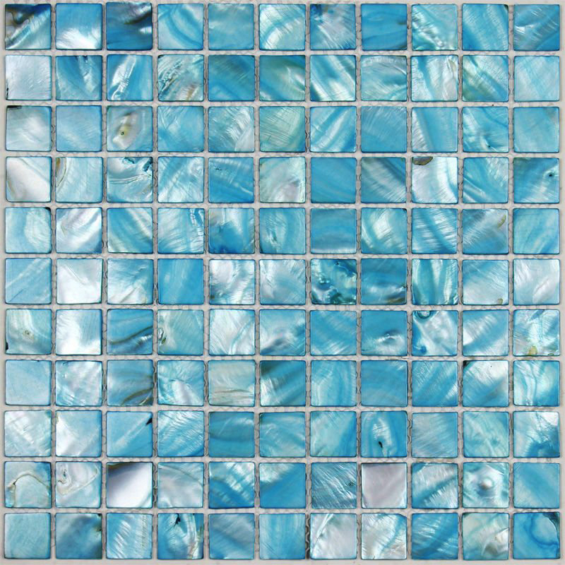 Tst Colorful Shell Mosaic Tiles Blue Fresh Water Shell