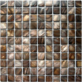 TST Colorful Shell Mosaic Tiles Coffe Fresh Water Shell Nature Mother Of Pearl Tile Brown Kitchen Backsplash Tile Bath Wall Decor