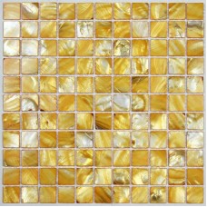 TST Colorful Shell Mosaic Tiles Golden Color Special Designed Fore Wall & Bathtub Mosaic Decor Art