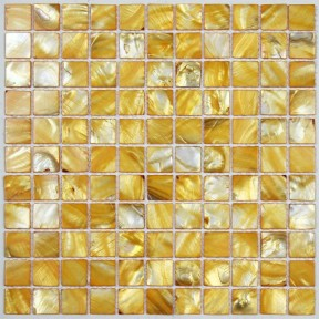 Tst Colorful Shell Mosaic Tiles Golden Color Special Designed Fore Wall Bathtub Decor Art