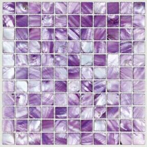 TST Colorful Shell Mosaic Tiles Purple Beautiful Lavender Sparkles Mosaic Shell Tiles