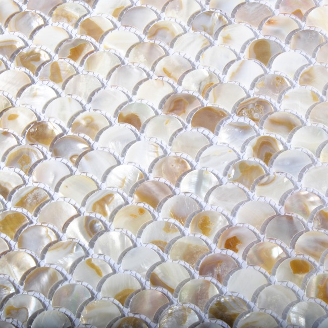 TST Freshwater Shell Slice Tiles Natural Shell Chips Mother Of Pearl tiles Kitchen Backsplash Bathroom Fireplace Deco