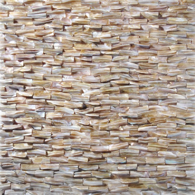 TST Freshwater Shell Tiles Natural Mother of Pearl Tile Brown Iridescent Bath Background Decor Art