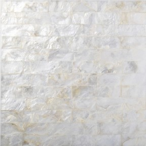 TST Freshwater Shell Pad Tiles Subway Natural White Seamless Shell Living Room & Bathroom Mosaic Tile