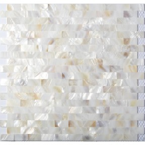 TST Freshwater Shell Slice Tiles Natural Shell White Interlocking Chips Kitchen Backsplash Bathroom Fireplace Deco