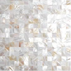 TST Freshwater Shell Slice Tiles Natural Shell White Tiles Pearlescent Seamless Shinning Mosaic Tile