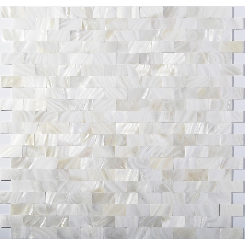 Tst Mother Of Pearl Tiles White Subway Interlocking Bath