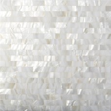 TST Mother Of Pearl Tiles White Subway Kitchen Backsplash Art Deco Mesh Shell Tiles