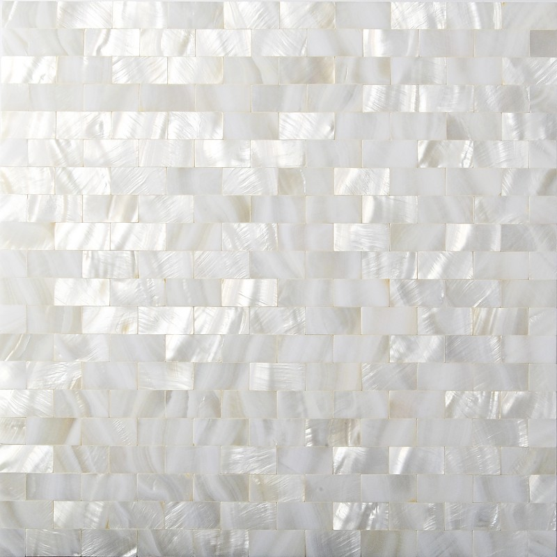 Tst Mother Of Pearl Tiles White Subway