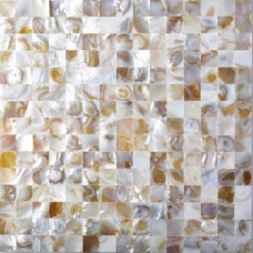 TST Freshwater Shell Slice Tiles Natural Shell color Squared Bath Background Shell Mosaic Tile