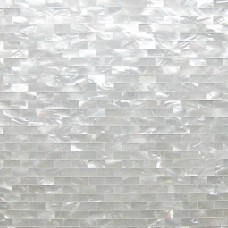 TST White Lip Shell Subway White Mother of Pearl Tiles Natural Shell Pad Tiles For Living Room Bedroom Fireplace Decor