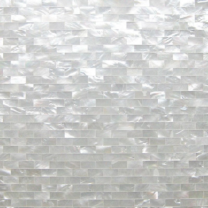Tst White Lip Shell Subway White Mother Of Pearl Tiles