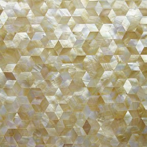 TST Yellow Lip Shell Pad Tiles Diamond Mirror Decor Hexagon Shell  Backsplash & Wall Remodeling Deep Sea Shell Pad Tiles