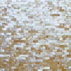 TST Yellow Lip Shell Subway Iridescent Mother of Pearl Tiles Natural Mosaic Living Room Decor Deep Sea Shell Tiles
