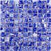 TST Blue And White Porcelain Mosaic Tiles Theme Hotel Studio Design Art Decor Bath Wall