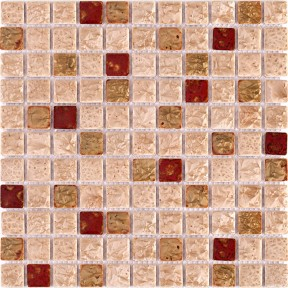 TST Ceramic Mosaic Tiles Rose Pink Red Mosaics Fambe Flower Art Design Backsplash
