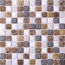 TST Ceramic Mosaic Tiles Black & White Chocolate Leopard Print Beautiful mosaics Art Wall