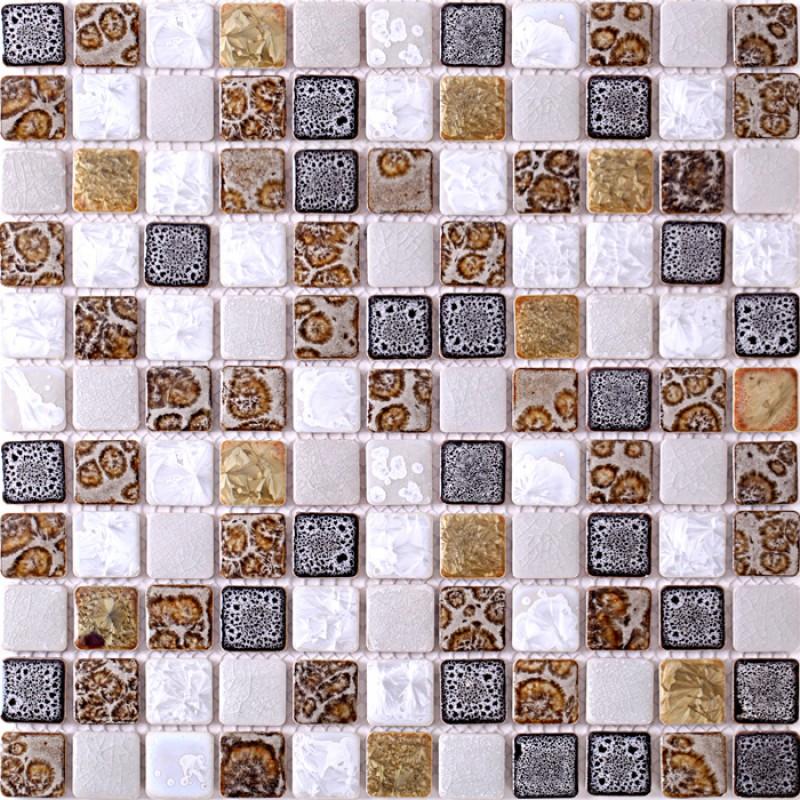 tst ceramic mosaic tiles black u0026 white chocolate leopard print beautiful mosaics art wall