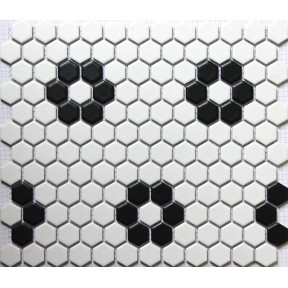 Hexagon Mosaics Tiles Black and White Parquet Puzzle Tiles
