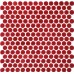 TST Penny Rounds Porcelain Tiles Red Chess Dot Background Bar Counter Decor