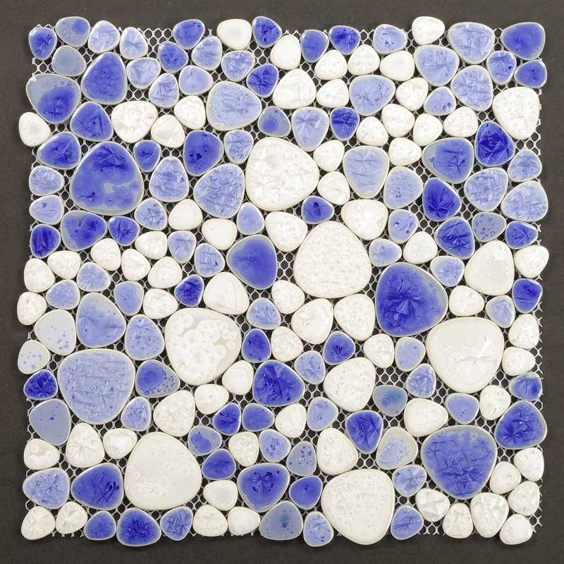 Lastest Pebble Tile Ocean Blue Kitchen Backsplash Cheap ZYS7 Bathroom