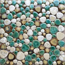 TST Porcelain Pebbles Art Fambe Pebble Stone Flooring Patterned Bath Floor Swimming Pool Decor