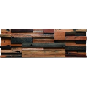 TST Wooden Panel Wall Deco Striped 3D Background Tile