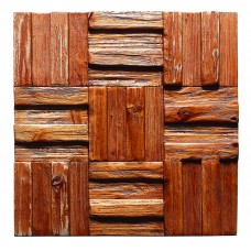 TST Wooden Squared Rustic Mosaic Wall Panel Deco Art Contemporary Craftsman
