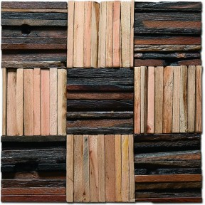TST Wooden Squared Mosaic tiles Wall Panel Deco Awesome Wall Tiles