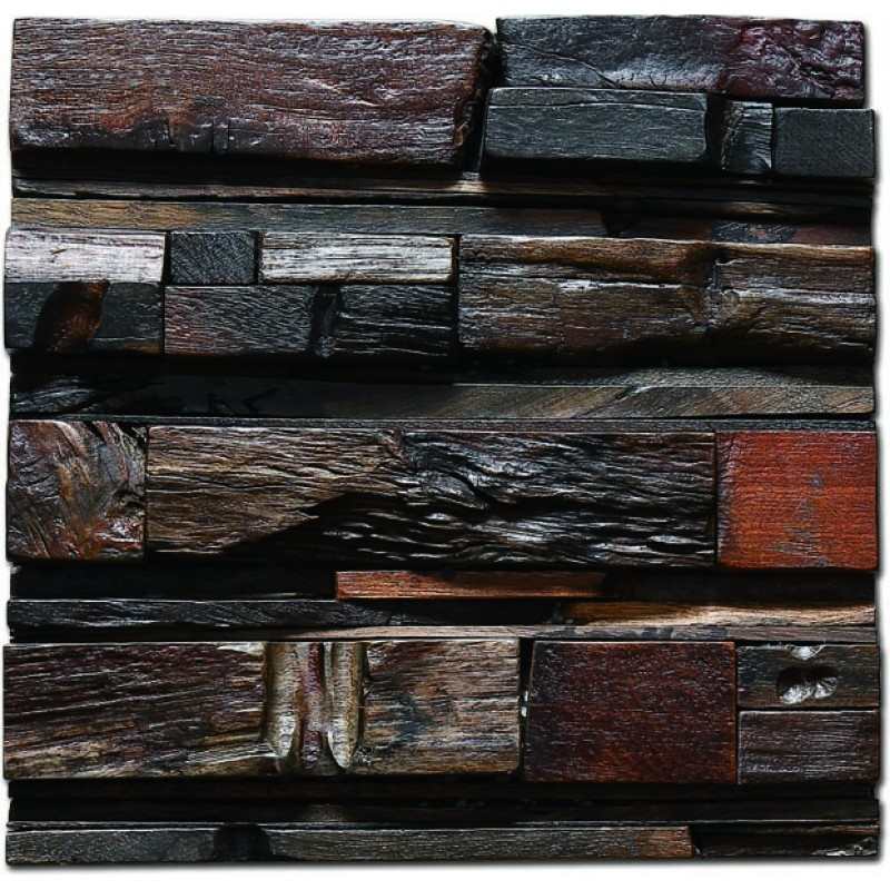Tst old recycled wood 3d art grain vintage wooden wall panels interior design
