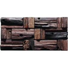 TST Aligned Wooden Panel Wall Deco Southwestern Darkish Tiles Interior Design