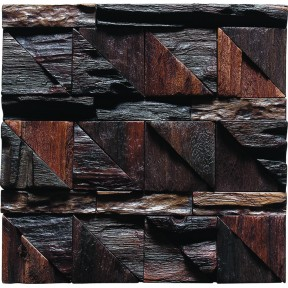 TST Wooden Squared  Mosaic Unique Style Wall Designed Eco-Friendly Interior Deco