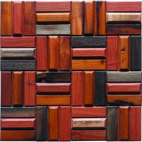 TST Wooden Squared Mosaic tiles Raised Wall  Deco Awesome Kitchen Backsplash Tiles