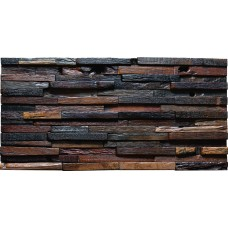 TST Aligned Wooden Panel Wall Tiles Deco 3D Background Rustic Style Home Design Tile