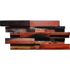 TST Interlocking  Mosaic Tiles Wall Panel Deco Fabricated Wooden Tiles Contemporary Interior Design