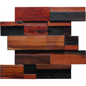 TST Interlocking  Mosaic Tiles Wall Panel Deco Midcentury Style with Contemporary Craftsman Design