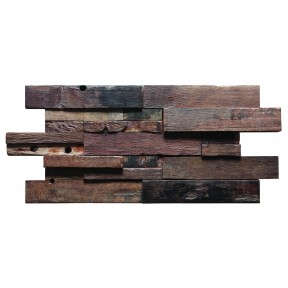 TST Interlocking Wooden Panel Vintage Reclaimed Barn Wood Grain 3D Interior Deco