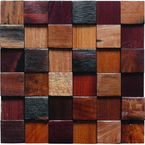 TST Irregular Tiles  Wooden Mosaic Tiles Country Style Archaistic  Wall Deco Art