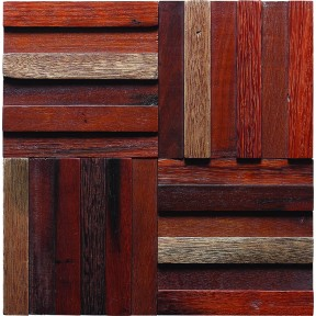 TST Wooden Squared Mosaic Tiles Orderly Strips Wall Panel Decor  Awesome Wall Tiles