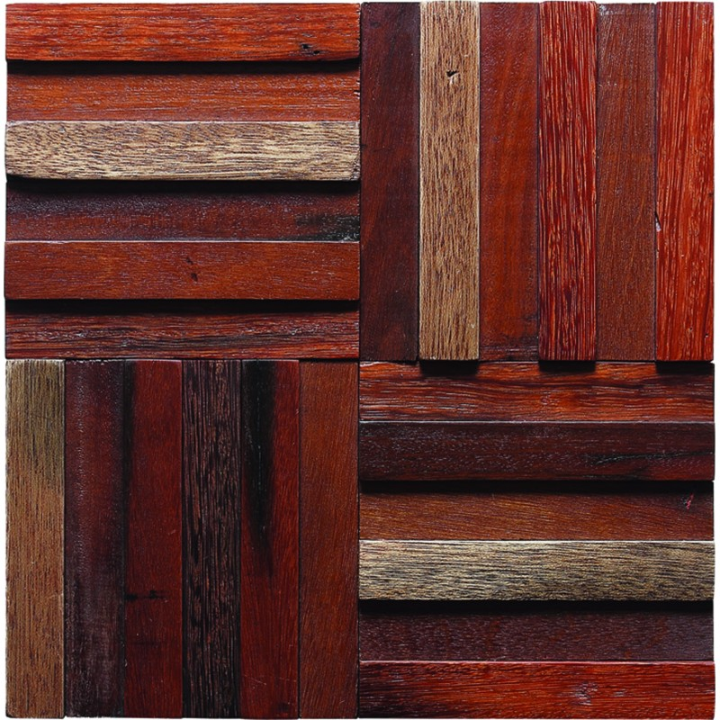 TST Wooden Squared Mosaic Tiles Orderly Strips Wall Panel Decor Awesome Wall  Tiles ... Part 82