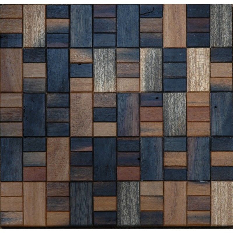Tst Wooden Squared Mosaic Tiles For Wall Transitional Style Deco