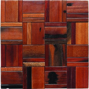 TST Wooden Squared Mosaic tiles Striped Wall  Deco Awesome Wooden Tiles For Wall