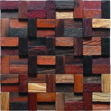 TST Irregular Tiles Wooden Wall Mosaic South-east Aisa Style Remodeling Deco Art