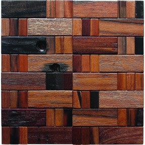 TST Wooden Squared  Mosaic Chinese Style Antiquated Wall Remodeling Deco