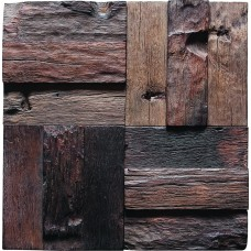 TST Wooden Squared  Mosaic  Wall Old Wood Weathering Surface Innovative DIY  Deco Art